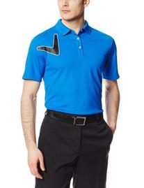 Callaway Men's Chevron Logo Short Sleeve Polo Shirt,