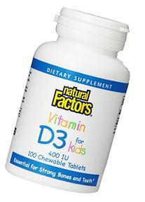 Natural Factors Children Chew Vitamin D3 400iu, 100 Count