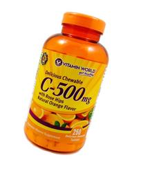 Chewable Vitamin C with Rose Hips - 500mg. 250 - Chewables