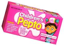 Children's Pepto Chewable Tablets Bubble Gum 24 Each