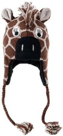 Nirvanna Designs CHGIRAFF Giraffe Hat with Fleece, Tan,