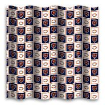Chicago Bears Fabric Shower Curtain