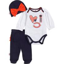 NFL Chicago Bears Baby Girls 3-Piece Set Bodysuit, Pant and