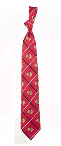 Chicago Blackhawks NHL Silver Line Woven Silk Neck Tie