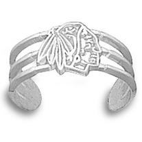 Chicago Blackhawks NHL Sterling Silver Toe Ring