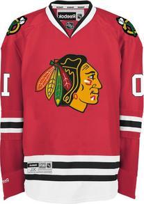 NHL Chicago Blackhawks Patrick Sharp Men's Premier Player Road Jersey, Red, Medium
