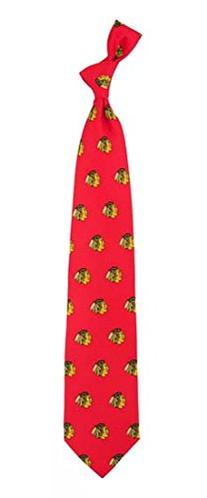 Chicago Blackhawks Printed Prep Silk Neck Tie NHL Hockey