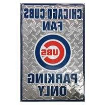 Chicago Cubs Fan Parking Only Metal Parking Sign