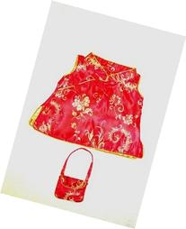 """Chinese Cheongsam Outfit Teddy Bear Clothes Fit 14"""" - 18"""""""