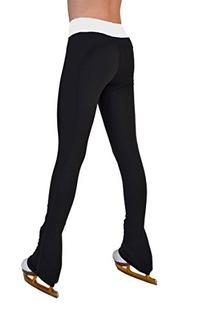 """Chloe Noel Figure Skating 3"""" Supplex Black & Color Waist"""