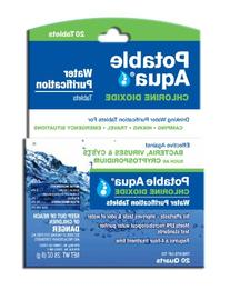 Potable Aqua Chlorine Dioxide Water Purification Tablets -