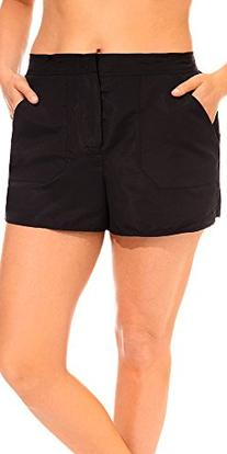 swimsuitsforall Women's Plus Size Chlorine Resistant Cargo