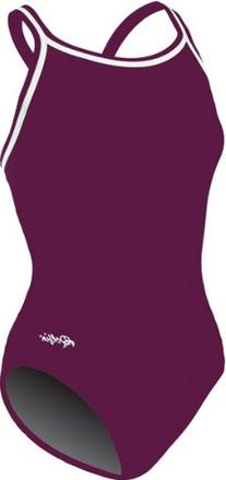 DOLFIN CHLOROBAN TEAM SOLID SUIT WOMENS MAROON SIZE 34