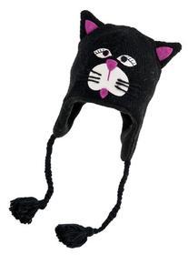 Nirvanna Designs CHNCAT Cat Hat with Fleece , Black, 5 Years