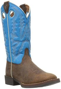Kids' Chocolate Buffalo Bent Rail Western, Brown, 8.5 D