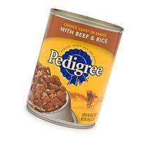 Pedigree 24 Piece Cut Beef/Rice Pet Food, 13 oz