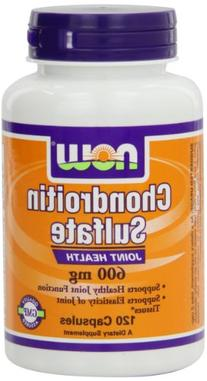 NOW Foods Chondroitin Sulfate 600mg, 120 Capsules