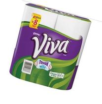 Viva Choose a Size Mega Roll White Paper Towels, 8/4 Packs