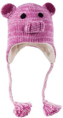 Nirvanna Designs CHPIG2 Pig Hat with Fleece , Pink, 5 Years