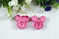 Chris's Home 2 Pcs/set,cookie Cutter 3d Mickey Mouse Animal