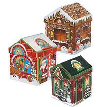 Set of 4 Christmas Holiday House-Shaped Nested Gift Boxes