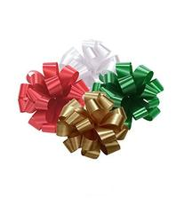 Christmas Holiday Pom Pom - Pull Out Bows 5 Inch Assortment