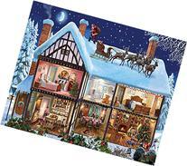 White Mountain Puzzles Christmas House Jigsaw Puzzle