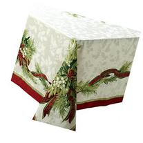 Benson Mills Christmas Ribbons Tablecloth