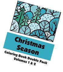 Christmas Season Coloring Book Double Pack