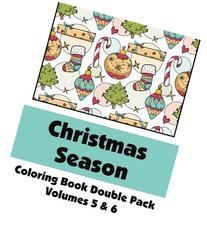 Christmas Season Coloring Book Double Pack