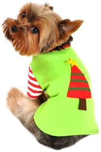 Christmas Tree Shirt Pet Dog Apparels Costume Medium