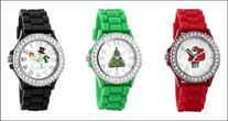 Christmas Watch Set Three  Xmas watches Crystal Rhinestones