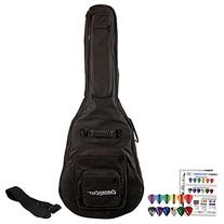 ChromaCast Acoustic Guitar 6-Pocket Padded Gig Bag with