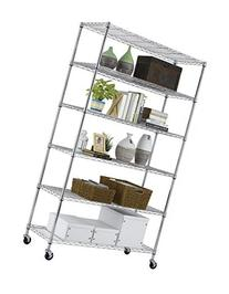 PayLessHere 6 Tier Chrome Commercial Adjustable Steel