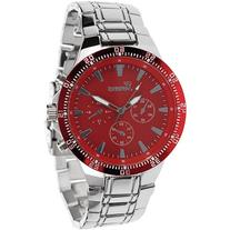 Aktion Men's Chronograph-Style Link Watch, Stainless Steel