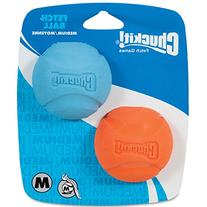 Chuckit! Medium Fetch Ball 2.5-Inch, 2-Pack