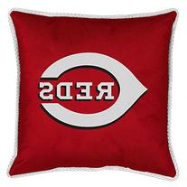 Cincinnati Reds Sidelines Toss Pillow in Bright Red