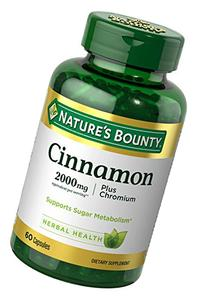 Nature's Bounty Cinnamon 2000 Plus Chromium High Potency 400