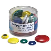 Wholesale CASE of 25 - Officemate Round Handy Magnets-