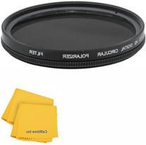 67MM Circular Polarizer  Glass Filter for CANON REBEL T5i