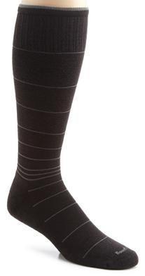 Sockwell Men's Circulator Compression Socks, Large/X-Large, Black Stripe