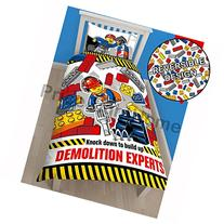 Lego City Demolition Single/US Twin Duvet Cover Set