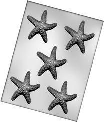 CK Products 3-Inch Starfish Chocolate Mold, Garden, Lawn,