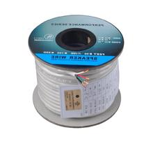 C&E 100 Feet 16AWG CL2 Rated 4-Conductor Loud Speaker Cable