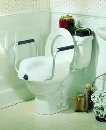 Clamp-On Raised Toilet Seat Each/5.5 in