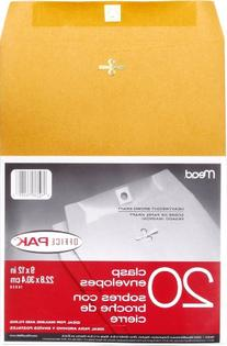 Mead 9X12 Clasp Envelopes, Office Pack 20 Count