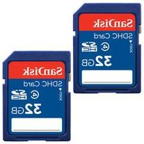 SanDisk 32GB Class 4 SDHC Flash Memory Card - 2 Pack SDSDB2L