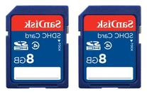 SanDisk 8GB Class 4 SDHC Memory Card, 2 Pack, Frustration-