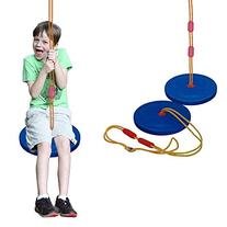 Toy Cubby Classic Style Blue Disc Rope Seat Swing