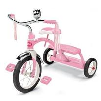 Radio Flyer Girls Classic Dual Deck Tricycle, Pink & Mini
